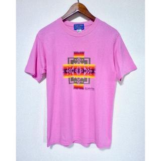 ペンドルトン(PENDLETON)の日本製 PENDLETON ペンドルトン プリントTシャツ ピンク(Tシャツ/カットソー(半袖/袖なし))