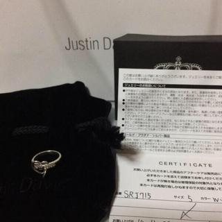 ジャスティンデイビス(Justin Davis)の❗️JustinDavis★LUV&HATEリング★ホワイトトパーズ(リング(指輪))
