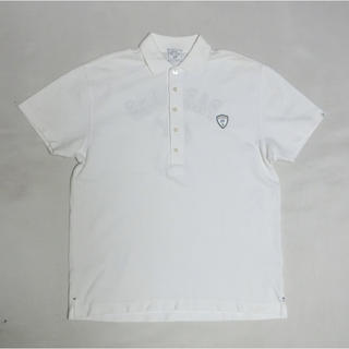 ゾーイ(ZOY)のZOY ゾーイ 白いカノコで背中のロゴ入りの半袖ポロシャツ(ウエア)
