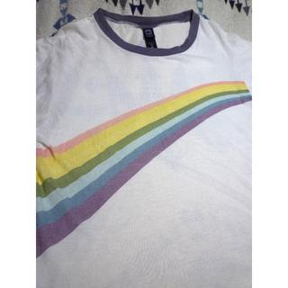 オルタナティブ(ALTERNATIVE)の送料込 ペルー製 alternative apparel   虹 Tシャツ (Tシャツ/カットソー(半袖/袖なし))