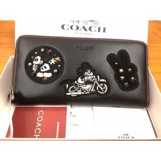 コーチ(COACH)の【新品】COACH コーチ長財布 ミッキーコラボ☆ ブラック(財布)