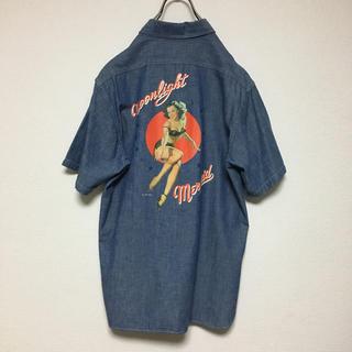 バズリクソンズ(Buzz Rickson's)のbuzz rickson's バックプリント入り 半袖シャンブレーデニムシャツ(シャツ)