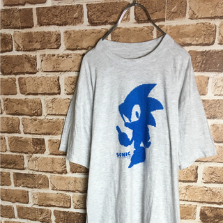 セガ(SEGA)のSEGAの名作! 90s SONIC ゲームキャラクター Tシャツ グレー 青(Tシャツ/カットソー(半袖/袖なし))