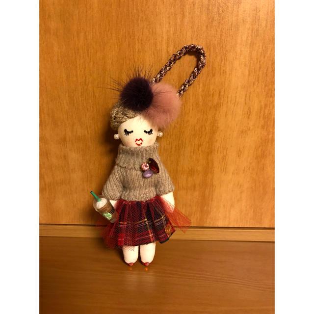 ドールチャーム ハンドメイドのファッション小物(バッグチャーム)の商品写真