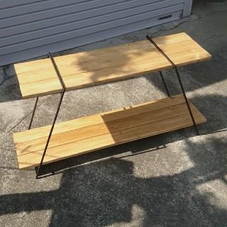 550 アイアンラック鉄脚のみ アウトドア アイアンテーブル 多肉植物 棚(アウトドアテーブル)
