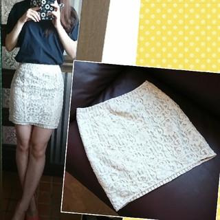 アミウ(AMIW)のAMIW♥レースタイトスカート(ミニスカート)