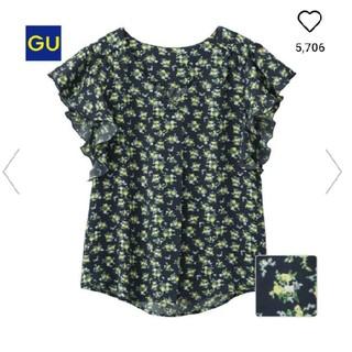 ジーユー(GU)のGU ボタニカルフラワーブラウス(シャツ/ブラウス(半袖/袖なし))