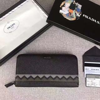 プラダ(PRADA)のPRADAプラダ サフィアーノ ラウンドファスナー 長財布2ML317(財布)