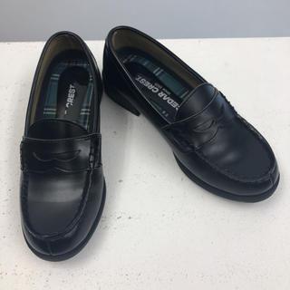 セダークレスト(CEDAR CREST)のローファー 学生 黒 23.5 幅広 CEDAR CREST(ローファー/革靴)