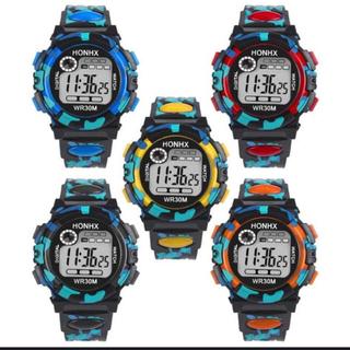デジタルウオッチ腕時計 青、黒(腕時計(デジタル))