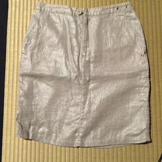 ベルメゾン(ベルメゾン)のルボンディール 麻100 スカート(ミニスカート)