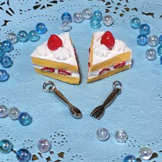 ショートケーキのミニスクイーズ(スマホストラップ/チャーム)