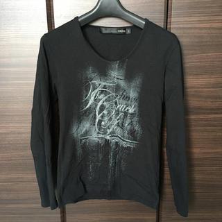 シュリセル(SCHLUSSEL)のシュリセル ロンT 送料無料 ブラック Mサイズ プリント トップス カットソー(Tシャツ/カットソー(七分/長袖))