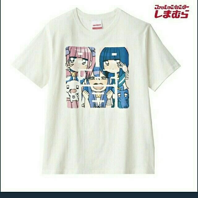 しまむら(シマムラ)の新品!未使用!メンヘラチャン Tシャツ LL しまむら イラストプレート付き メンズのトップス(Tシャツ/カットソー(半袖/袖なし))の商品写真