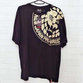 新品 3L 新日本プロレス  ビックTシャツ 大きいサイズ ブラック ゴールド(Tシャツ/カットソー(半袖/袖なし))