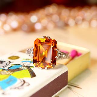 お勧め✩⃛細工が美しい黄昏色のノスタルジックな指輪⋆*エテ アガット お好きな方(リング(指輪))