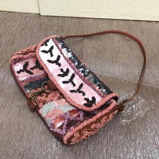 アッシュペーフランス(H.P.FRANCE)のJAMIN PUECH スパンコールデザインバッグ(ショルダーバッグ)