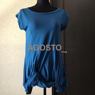 アゴストショップ(AGOSTO SHOP)のAGOSTO デザイントップス(カットソー(半袖/袖なし))