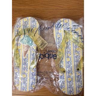 ジェラートピケ(gelato pique)のジェラートピケ ビーチサンダル 未使用 新品 花柄 gelato pique(ビーチサンダル)