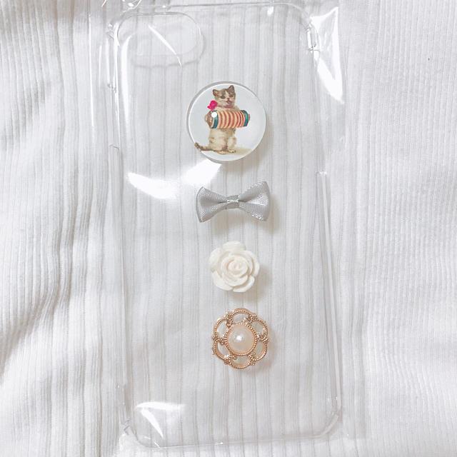 猫さんiPhonecase ハンドメイドのスマホケース/アクセサリー(スマホケース)の商品写真
