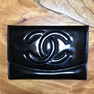シャネル(CHANEL)のCHANEL 黒 エナメル財布☆Betty0935様専用☆(財布)