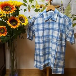 ジュンメン(JUNMEN)の✨JUN MEN 水色チェック柄の半袖シャツ3Lサイズ♪(シャツ)