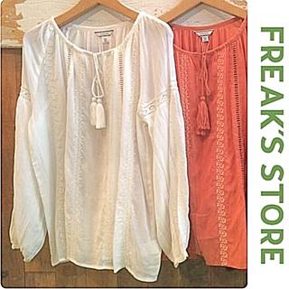 フリークスストア(FREAK'S STORE)の【フリークスストア】刺繍ブラウス エンブロイダリー アングリッド好きな方♪(シャツ/ブラウス(長袖/七分))