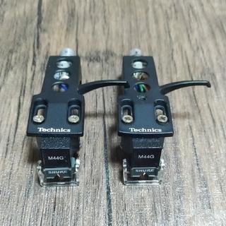 【Technics】ヘッドシェル,M44Gカートリッジ,N44G針【SHURE】(レコード針)