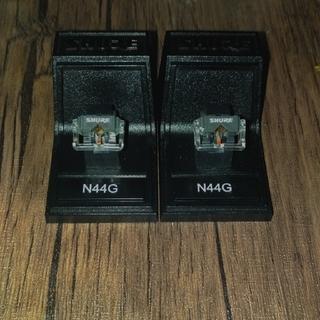 SHURE 交換針 フォノグラフ カートリッジ用 N44G 2本【国内正規品】(レコード針)