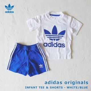 アディダス(adidas)の【80サイズ】adidas★Tシャツ&ショートパンツセット タグ付新品(Tシャツ)