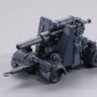 海洋堂カプセルQ ワールドタンクデフォルメ 88mm高射砲 グレイ(その他)