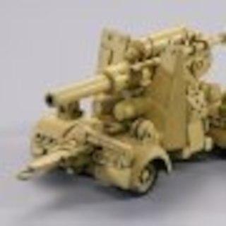 海洋堂カプセルQ ワールドタンクデフォルメ 88mm高射砲 イエロー(その他)