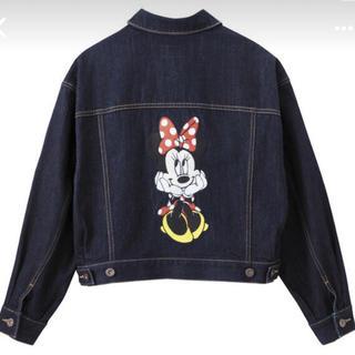 ジーユー(GU)のミニーマウス デニムジャケット(Gジャン/デニムジャケット)