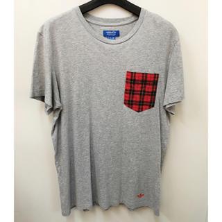 アディダス(adidas)の二枚セット adidas チェック柄 Tシャツ アディダス tee ポケット(Tシャツ/カットソー(半袖/袖なし))