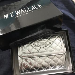エムジーウォレス(MZ WALLACE)の新品未使用MZ WALLAGE シルバー財布(財布)