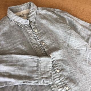 ムジルシリョウヒン(MUJI (無印良品))の無印良品 muji コットンシャツ Lサイズ 長袖 未使用(シャツ/ブラウス(長袖/七分))