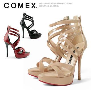コメックス(COMEX)のCOMEX❤️本革✨美品グラディエーターサンダル✨S(サンダル)