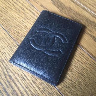 シャネル(CHANEL)のシャネル ココマーク キャビアスキン  カードケース(名刺入れ/定期入れ)