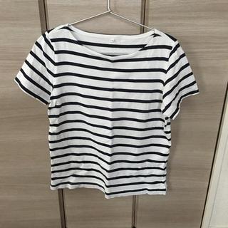 ムジルシリョウヒン(MUJI (無印良品))の本日まで掲載 早い者勝ち無印良品 ボーダー Tシャツ(Tシャツ(半袖/袖なし))
