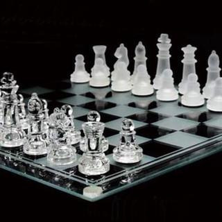 ガラス製 チェスセット インテリア(オセロ/チェス)