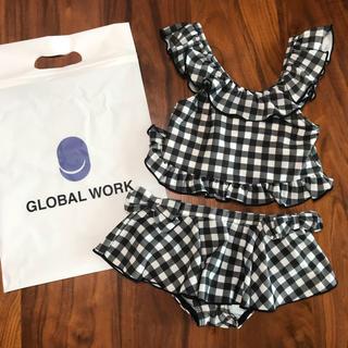 グローバルワーク(GLOBAL WORK)の【大幅値下げ‼️】新品★GLOBAL WORK★ギンガムチェック水着★M(水着)