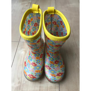 アカチャンホンポ(アカチャンホンポ)のまっきー様専用☆花柄 長靴 レインシューズ シンプルフリー 13センチ(長靴/レインシューズ)