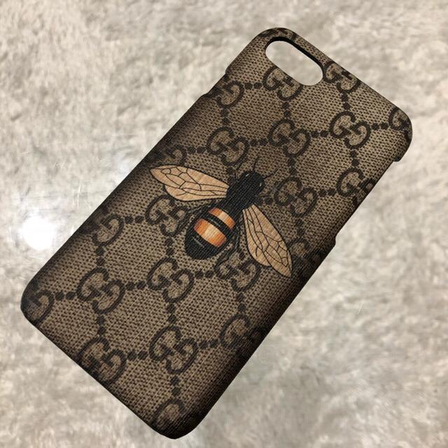 Gucci - GUCCI グッチ ビー(ハチ)プリント iPhone7ケースの通販 by aki- shop|グッチならラクマ