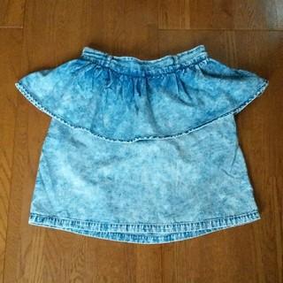 ローリーズファーム(LOWRYS FARM)のデニム特殊加工スカート*一段フリル(ミニスカート)
