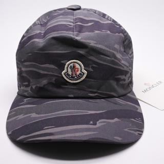 モンクレール(MONCLER)のモンクレール メンズ レディース 帽子 CAP カモフラ 迷彩 グレー 未使用(キャップ)