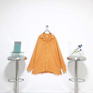 """シーピーカンパニー(C.P. Company)のイタリア製 c.p.company """"100%linen"""" オープンカラーシャツ(シャツ)"""