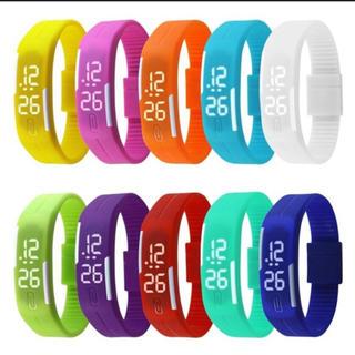LED カラフル時計(腕時計(デジタル))