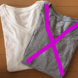 ムジルシリョウヒン(MUJI (無印良品))の無印良品 オーガニックコットン Vネック Tシャツ ホワイト(Tシャツ(半袖/袖なし))
