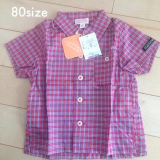 チッカチッカブーンブーン(CHICKA CHICKA BOOM BOOM)のCHICKA CHICKA BOOM BOOM 80サイズ チェックシャツ(シャツ/カットソー)