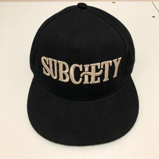 サブサエティ(Subciety)のSubciety 黒キャップ cap black(キャップ)